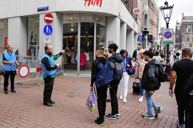 Strict checks on coronavirus rules in Amsterdam