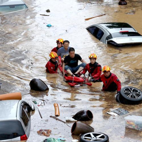 Photo Story: Floods in South Korea
