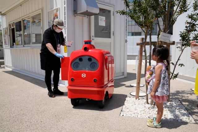 Japan introduces delivery robot to promote social distancing