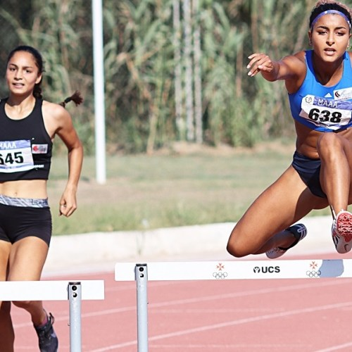 Sarah Chouhal lowers 400m hurdles U20 national record