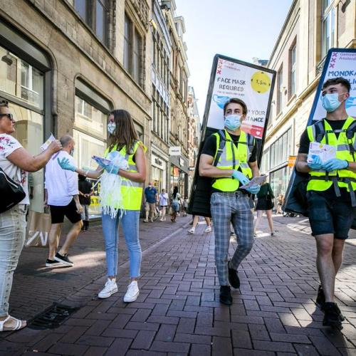 Amsterdam enforces face masks in crowded places
