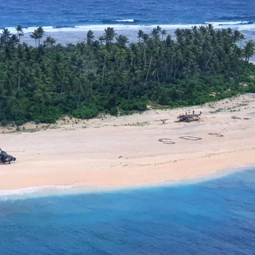 Photo Story: Missing sailors on Micronesia island saved by SOS message in the sand