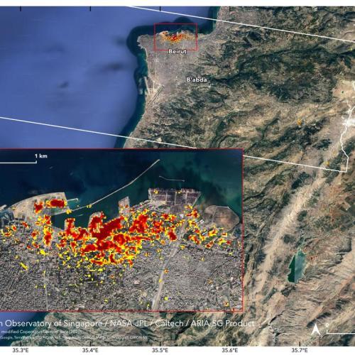 Beirut port blast crater 43 metres deep