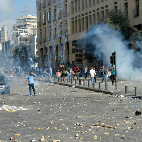 Shots, tear gas fired as protests against the government and political establishment intensify in Lebanon