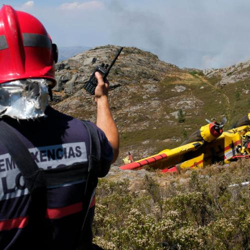 Photo Story: Fatal airplane crash during firefighting operations in Portugal