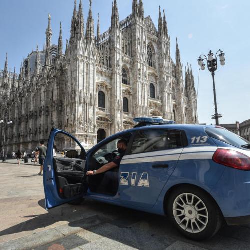 Moments of terror at Milan Duomo
