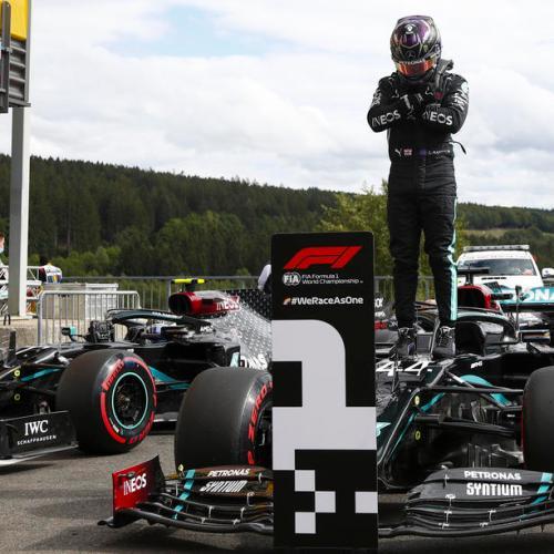 Lewis Hamilton claims pole position in Belgium's Grand Prix