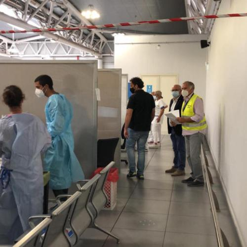 Photo Story: Airport screenings in Italy for anyone arriving from Croatia, Greece, Spain and Malta