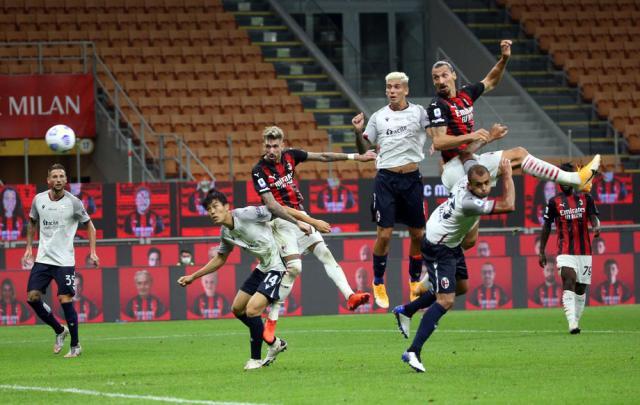 Ibrahimovic strikes twice as Milan beats Bologna