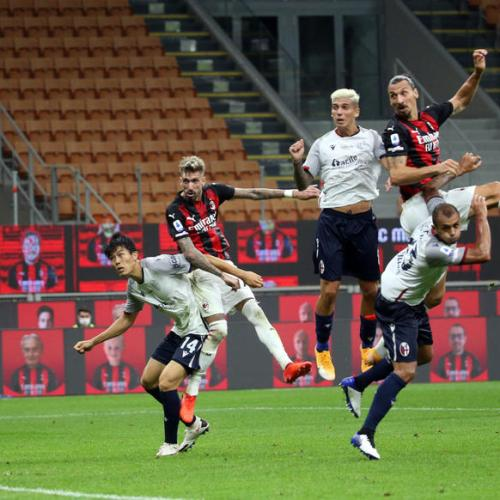 Ibrahimovic strikes twice as Milan beats Bologna