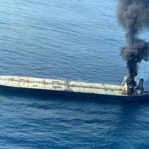 Fire rages on supertanker off Sri Lanka, one crewman presumed dead