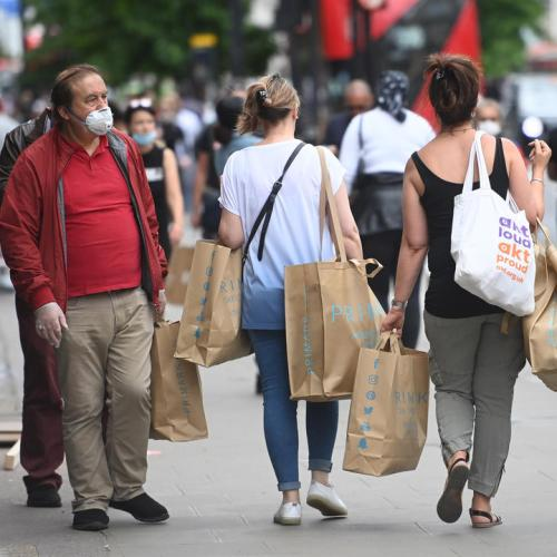 Springboard data shows UK shopper numbers edge higher as more people return to work