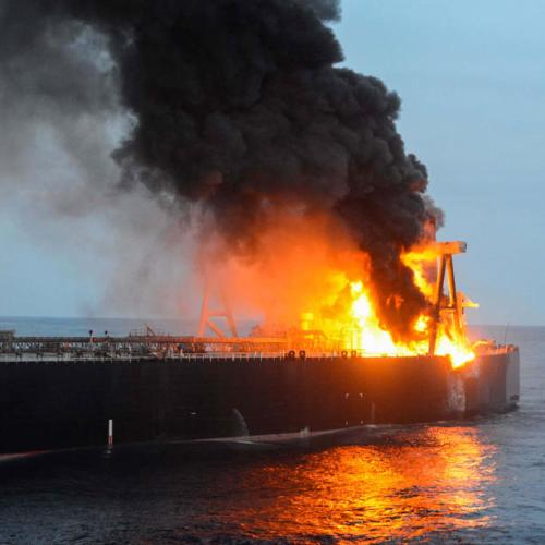 Sri Lanka tows supertanker away from coast after fire