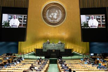 Pope to UN: Use COVID crisis to come out better, not worse