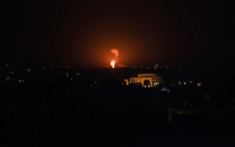 Israeli aircraft strike in Gaza, sirens in southern Israel