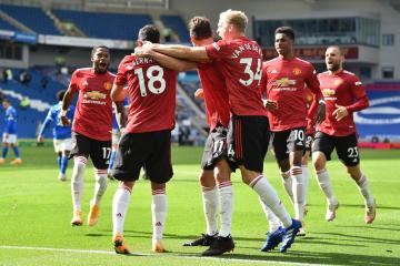 Manchester United wins at Brighton in dramatic finale