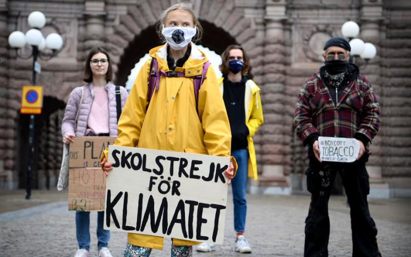 Photo Story: Fridays For Future protest at the Swedish Parliament