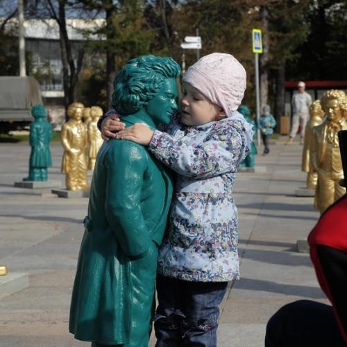 Photo Story: Beethoven art installation unveiled in Moscow