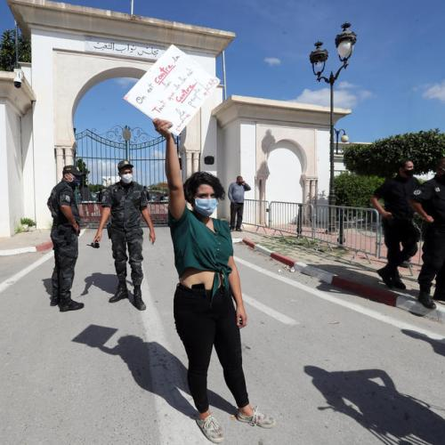 Protesters clash with police in Tunisia