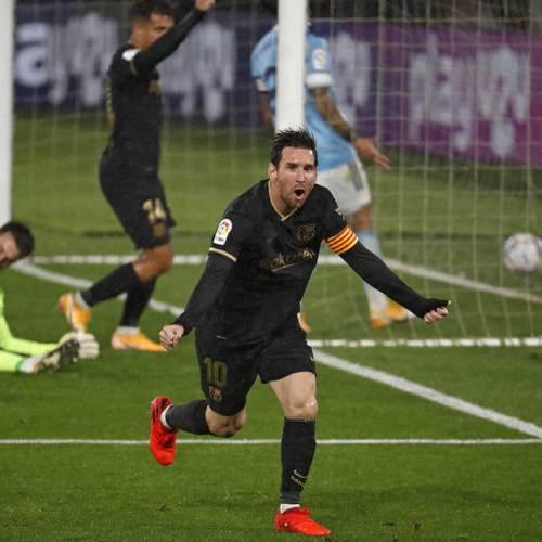 Messi crucial in Barcelona's win at Celta Vigo