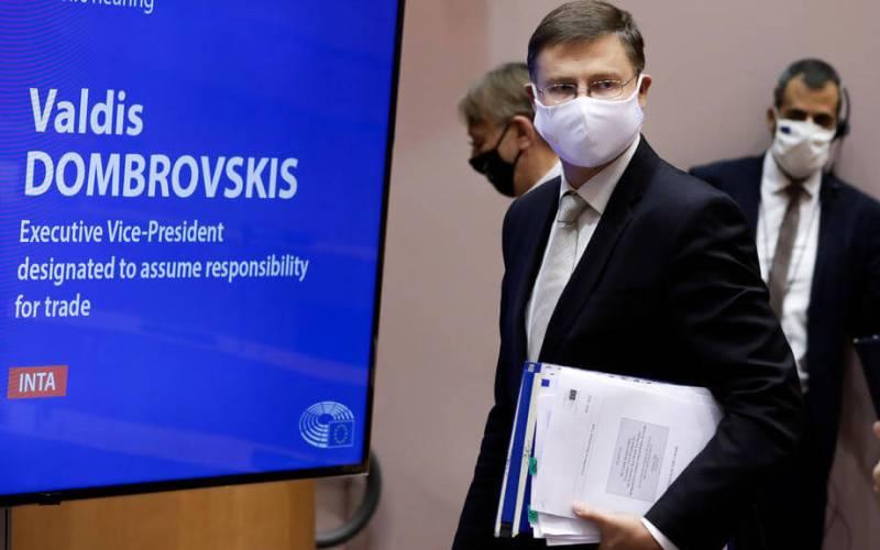 EU's Dombrovskis tells US to withdraw tariffs