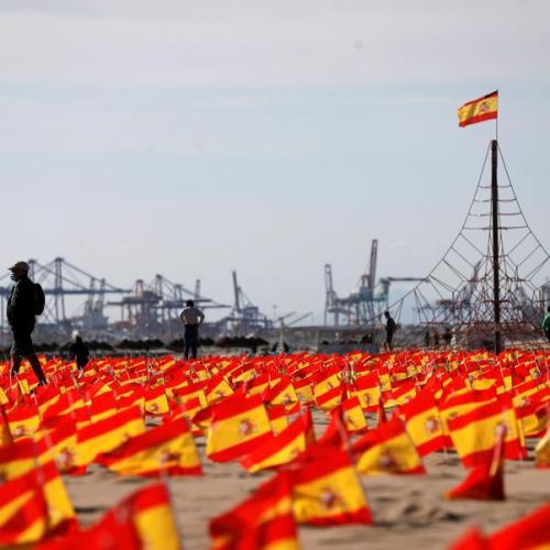Photo Story: 53,000 flags to remember COVID-19 victims in Spain