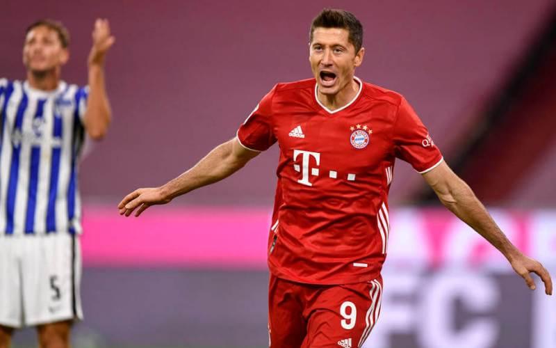 Levandowski scores all 4 goals in Bayern Munich 4-3 win over Hertha Berlin