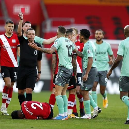Everton suffer first defeat to Southampton