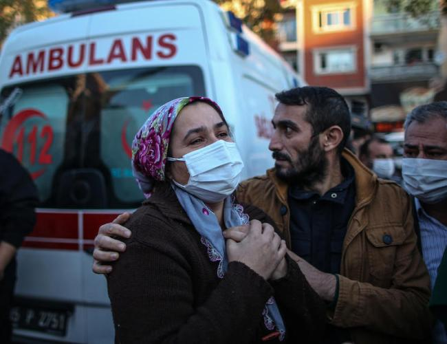 Turkish and Greek leaders exchanged solidarity messages after powerful earthquake kills 27