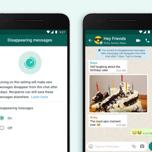 Facebook Says Introducing Disappearing Messages On WhatsApp