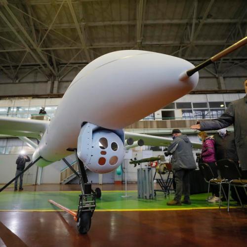 Photo Story: Ukraine unveils new military drone 'Sokil-300'