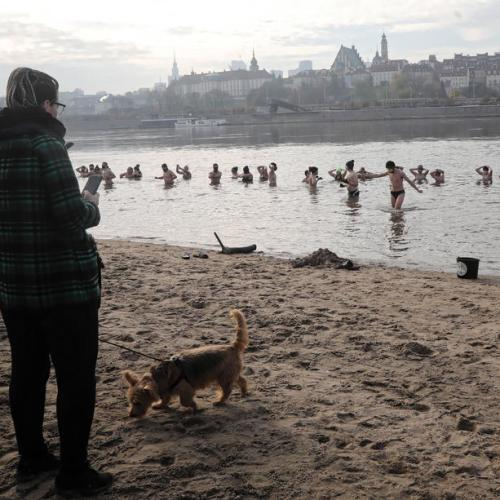 Photo Story: The swim of the 'Walruses' in Warsaw