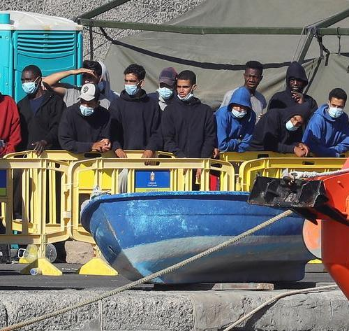 Rescued migrants arrive in the Canary Islands