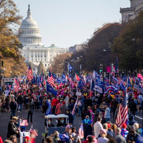 Trump supporters march in Washington to support his false election claims