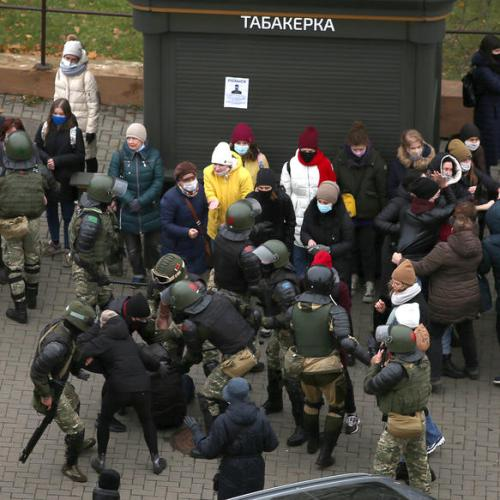 Dozens detained in Belarus protests – rights group