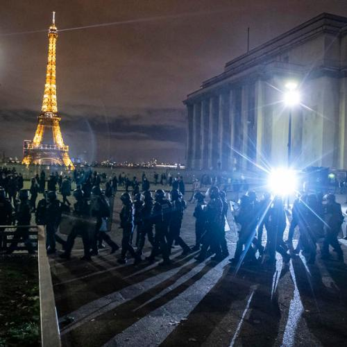 French protest against law to curb identification of police