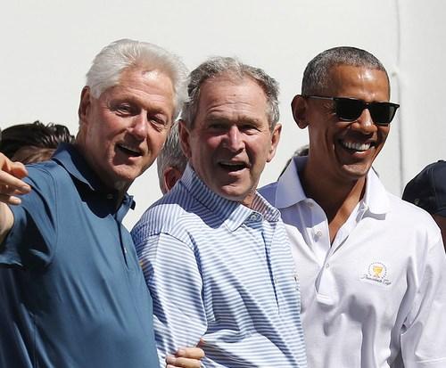 U.S. Ex-presidents Bush, Clinton, Obama band together to aid Afghan refugees