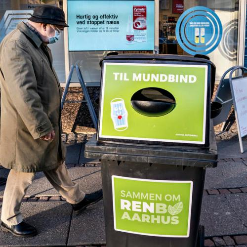 Photo Story: Waste bins for disposable face masks in Denmark