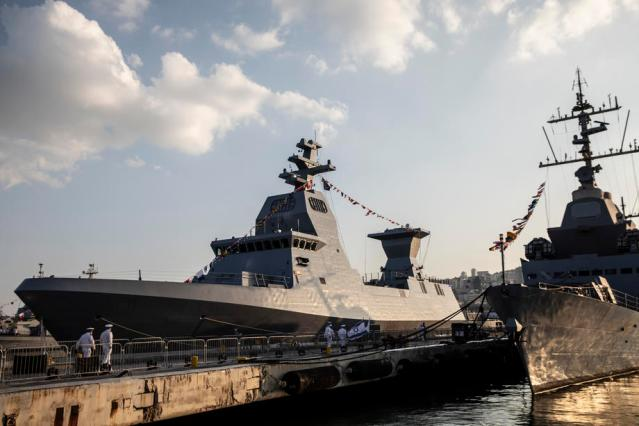 Israel receives its most advanced warship as Iran tensions rise