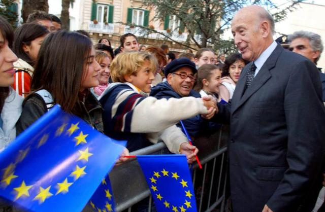 Former French president Valery Giscard d'Estaing was architect of EU integration