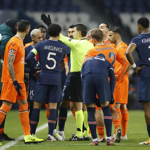 Basaksehir and PSG walk off after alleged racism by a match official