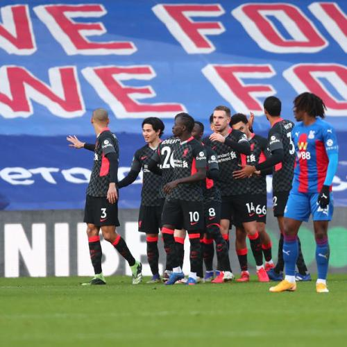 Liverpool thrash Crystal Palace 7-0 to go six points clear