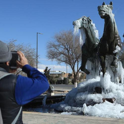 Photo Story: Cold front affects northern Mexico