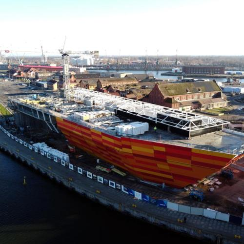 Photo Story: Construction site of the Maritime Science Centre in Szczecin, Poland, gathers pace