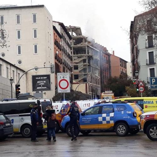Building collapses in central Madrid explosion, several injured – TVE