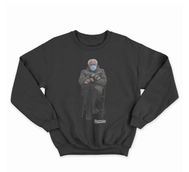 Bernie Sanders embraces meme and creates sweatshirt to raise money for charity