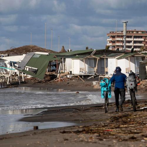 Photo Story: Bad weather causes damage in Ostia, Rome