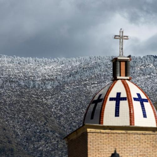 Photo Story: Winter storms bring snowfall in northern Mexico