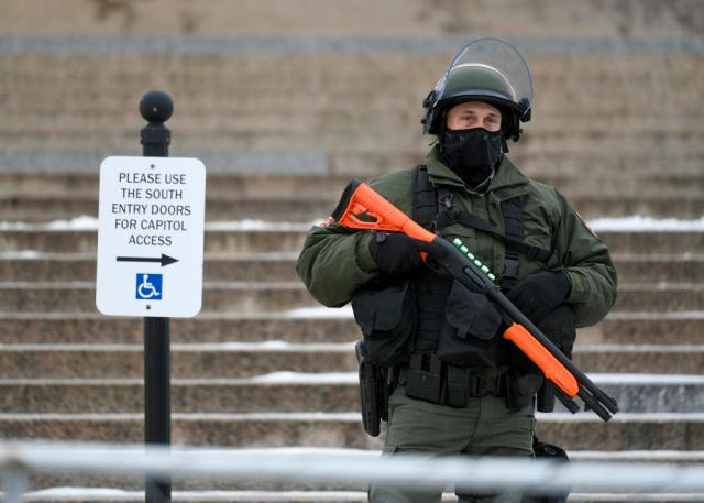 Massive police presence across U.S. ahead of Biden's inauguration