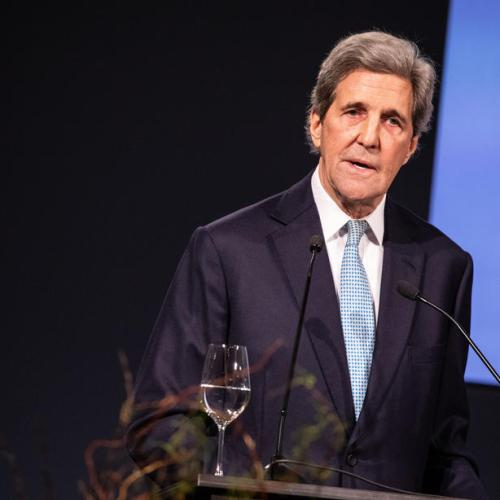 """U.S. """"proud to be back"""" in climate fight, Kerry tells leaders"""